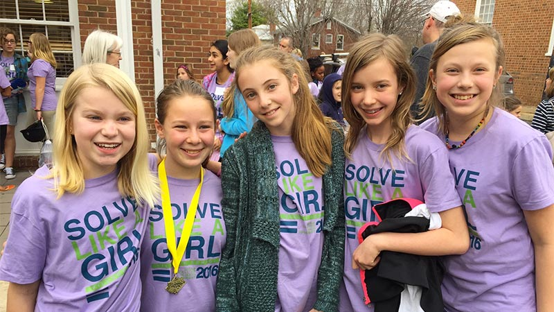 Congratulations to Claire Newman and the Peabody Girls Math Competition Team