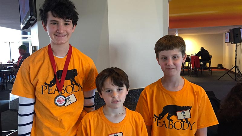 Middle School Students Rank Third in National Scrabble Tournament